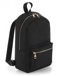 Metallic Zip Mini Backpack